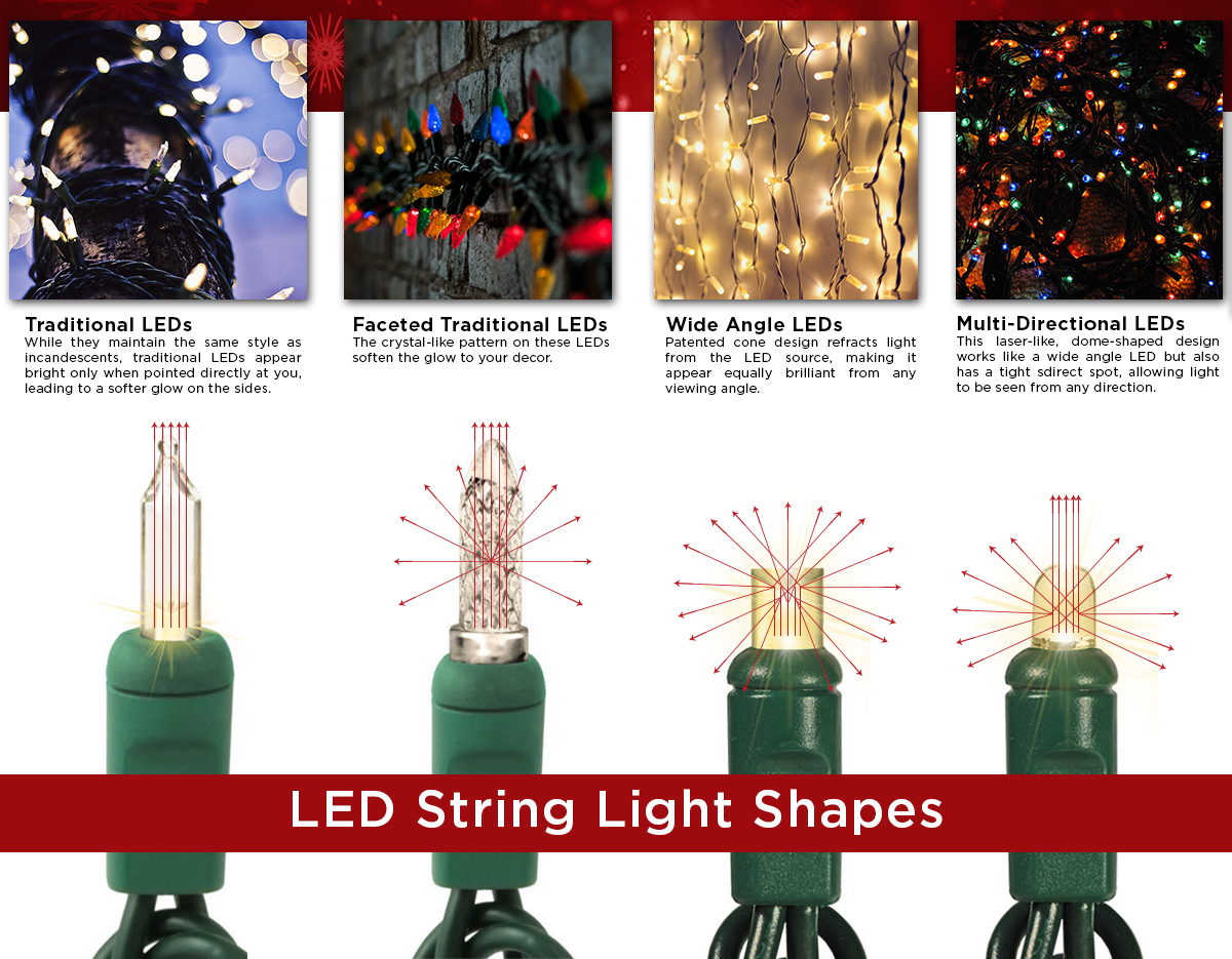 LED string light shapes